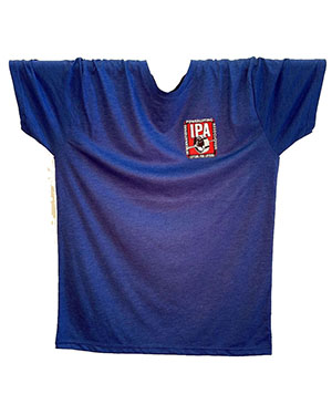 IPA LOGO TEES NEXT LEVEL TRI-BLEND SHIRTS - blue - men's only - front