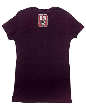 IPA 3-LIFTER TEES NEXT LEVEL TRI-BLEND SHIRTS - WOMEN—PURPLE EGGPLANT - back