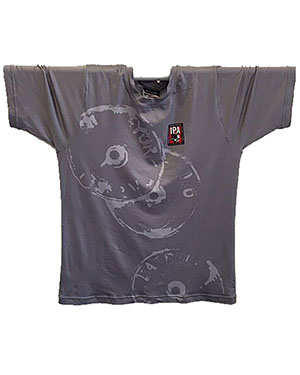 IPA WATERCOLOR PLATES SHIRT Custom Sublimated Performance Shirt. Cool, moisture wicking. MEN—GRAY - front