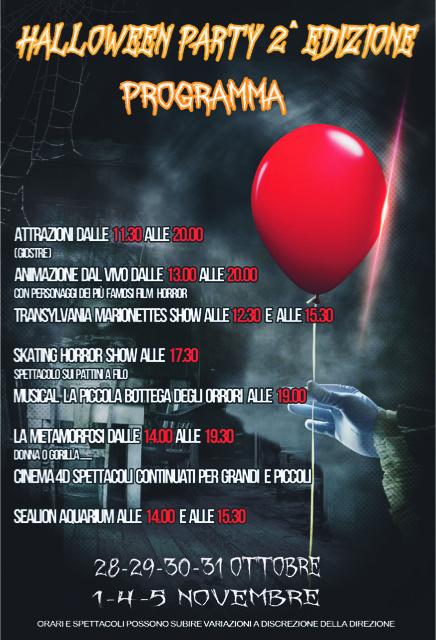 Attrazioni e Programma Spettacoli Halloween Party 2017
