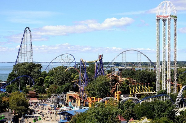 Cedar Point uno dei parchi divertimento piu importi in Ohio