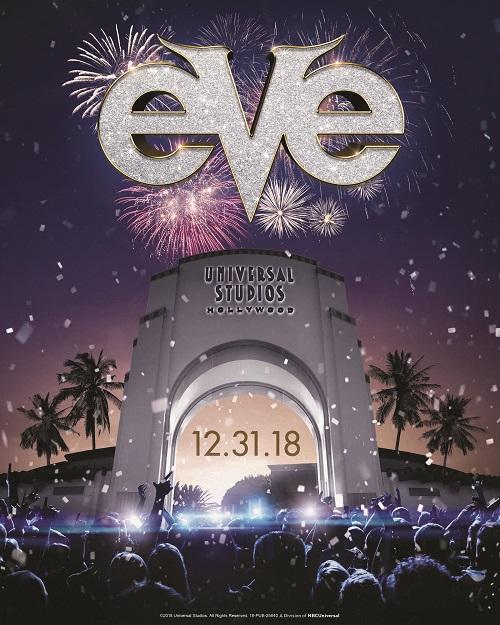 EVE l'evento di Capodanno 2019 a Universal Studios Hollywood a Los Angeles