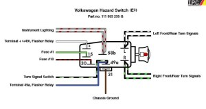 Emergency Flasher Switch VW IPC VW Parts, VW Bug Parts and VW Bus Parts , Volkswagen Interior