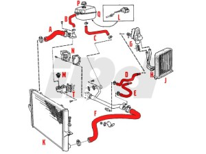 Volvo Thermostat Housing Gasket ELWIS 112867 1397574 9463274