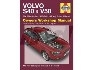 Volvo Haynes Manual for P1 S40 & V50 115416 9781844257577 SV4757 9L4731