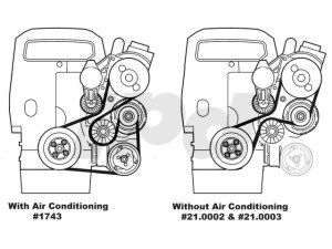 Auxiliary Serpentine Drive Belt for models without Air Conditioning  850 S70 V70 C70 Genuine