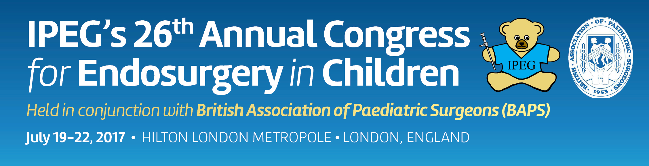 IPEG's 26th Annual Congress for Endosurgery in Children 2017