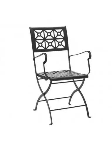 Set di 2 sdraio da giardino con tavolino, portabicchieri e cuscino per la testa regolabile, sedie sdraio pieghevoli ergonomica traspirante,sedia. Sedia Pieghevole Da Giardino Isotta Con Braccioli Antracite
