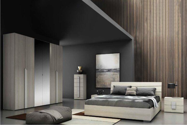 Uno stile moderno e sorprendente, per una camera da letto elegante e del tutto unica, composta da gruppo letto e letto con testiera di design. Camere Da Letto Moderne Palermo Ipershop