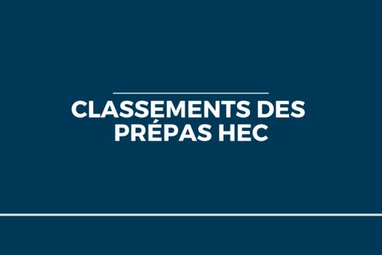 Classements Prépas HEC