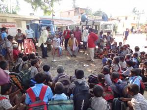 Street play in progress at Bukpatna of Korategere taluka