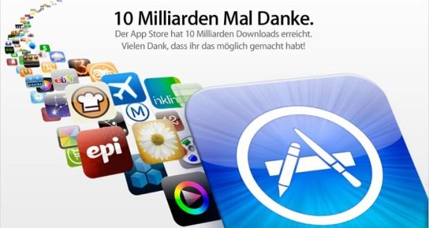 Die 10 milliardste App wurde aus dem AppStore geladen