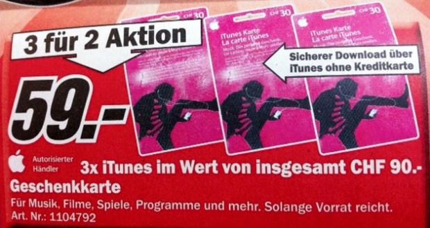 iTunes bei Media Markt zum Aktionspreis