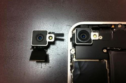 iPhone 4 Weiss auseinandergenommen