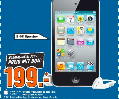 iPod touch 8GB für nur Fr. 199.- bei Saturn