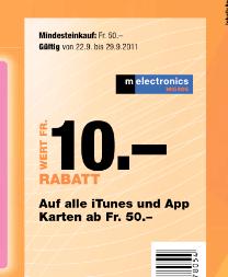 iTunes Karten bei melectronics günstiger