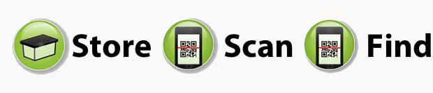 AppMyBox: iPhone scannt Aufbewahrungsbox und zeigt den Inhalt