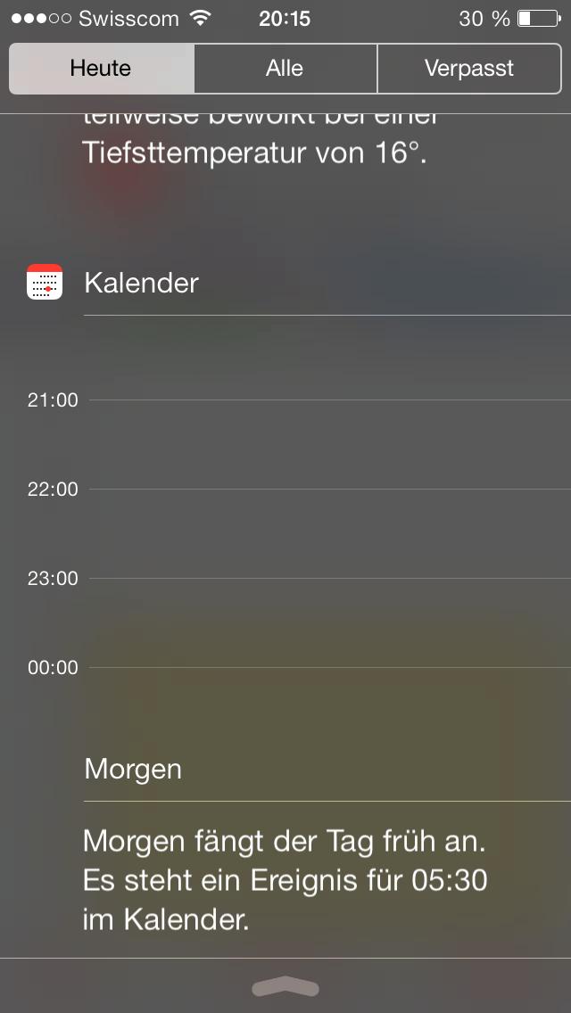 Kalender Ios