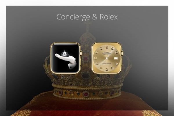 Apps für die goldene Apple Watch - Concierge & Rolex