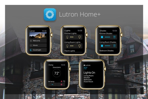 Apps für goldene Apple Watch - Lutron Home+