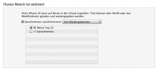 Musiksynchronisation zwischen Rechner und iPhone funktioniert mit iTunes Match nicht mehr