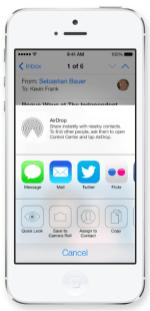 iOS 7: Optionen der Weiterleitung