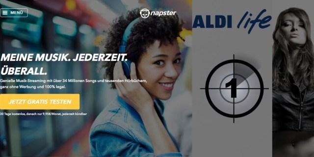 Musik Streaming bei Aldi Life von Napster