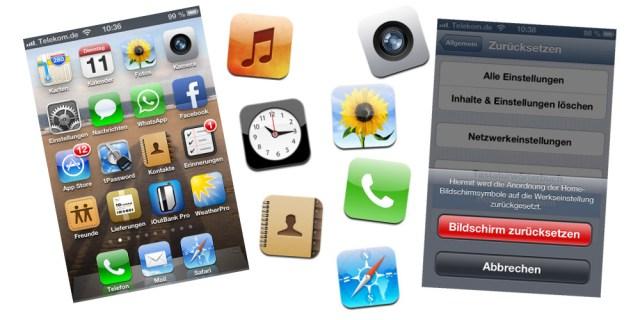 App Symbole iPhone Standard