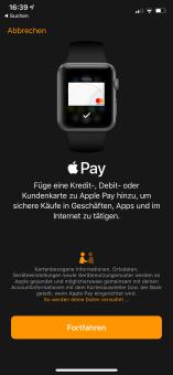Apple Pay mit der Apple Watch