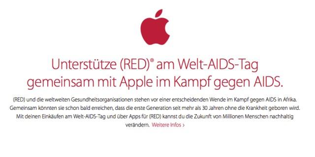 Apple Black Friday ist rot