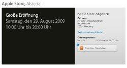 Eröffnung des Apple Stores am 29. August in Hamburg