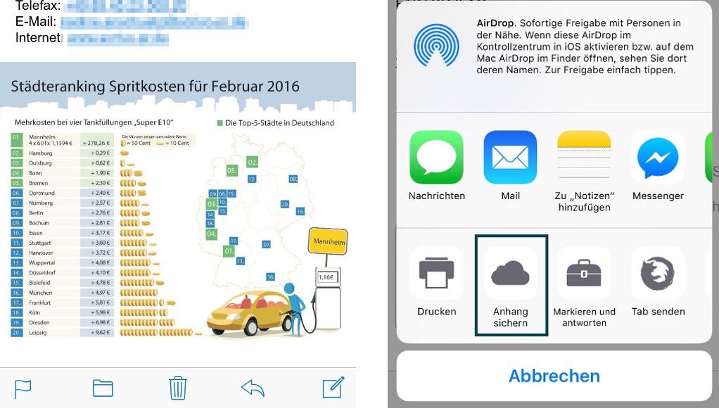 Mail-Anhänge direkt in der iCloud ablegen | iPhone-Fan