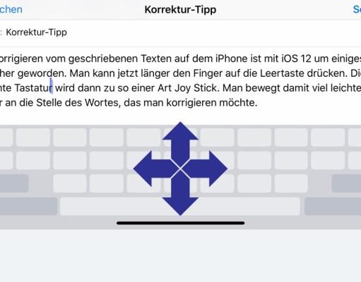 iOS 12 Korrektur von Texten auf dem iPhone