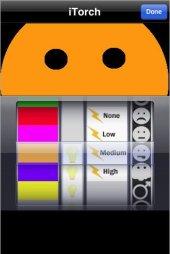 iPhone aus farblige Taschenlampe benutzen © Chillingo Ltd.