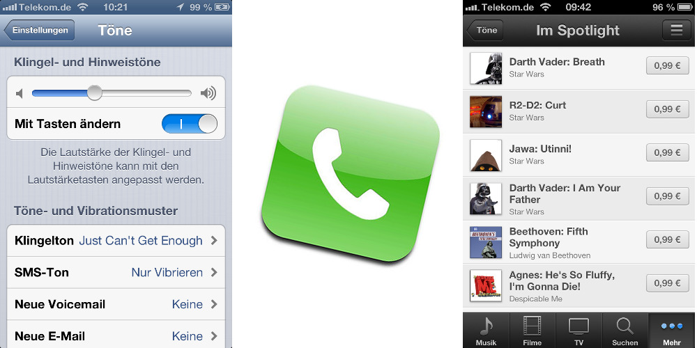 klingeltöne für iphone kaufen