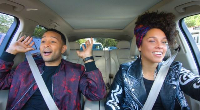John Legend und Alicia Keys bei Apples Carpool Karaoke