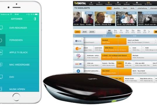 Fernbedienungs iPhone mit Logitech Harmony Hub
