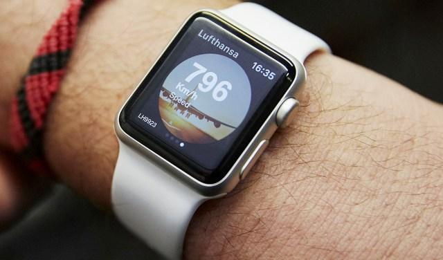 Aktuelle Geschwindigkeit auf der Apple Watch ablesen (c) Lufthansa