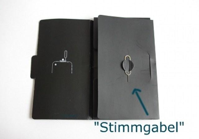 iPhone Simmgabel zum Öffnen des Kartenschlittens