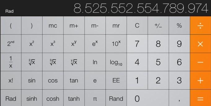 Taschenrechner iPhone
