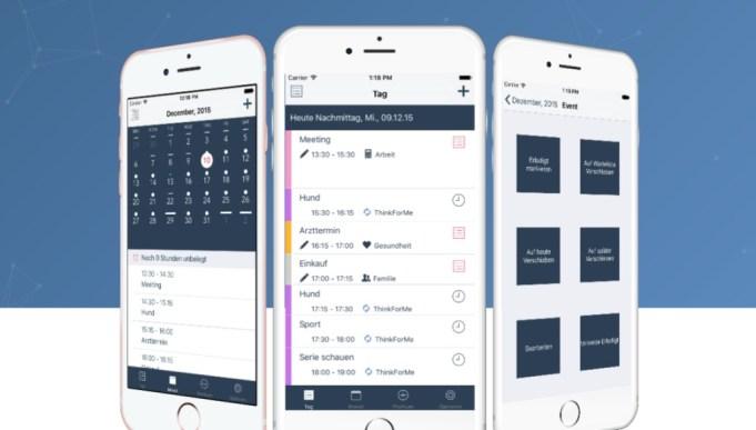 Kalender App ThinkFor Me