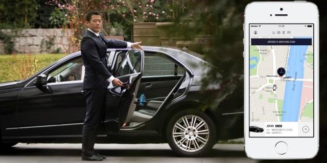 Abholung per Uber Chauffeur