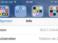 WLAN call in iOS 10 mit iPhone