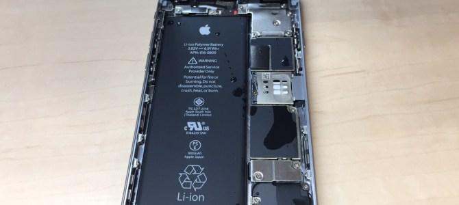 iPhone6水没修理 札幌市中央区より『トイレに落とした』