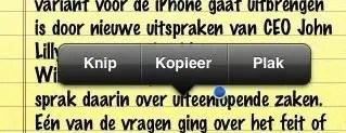 iPhone - Kopiëren en plakken