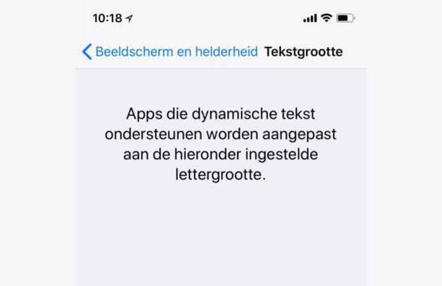 Adjust iPhone text size