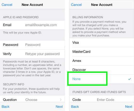 How to Create an Apple ID with No Credit Card | The iPhone FAQ