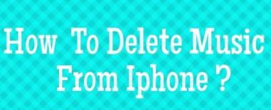 How to delete music from iphone