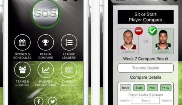App Review – Sit or Start Fantasy Football | | iPhoneGlance
