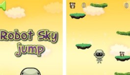 Game Review – Jump & Collect Bears – Robot Sky Jump